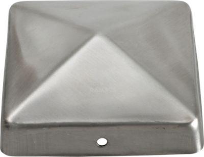Pfostenkappe Pyramide 90 X 90 mm Edelstahl A2