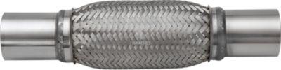Flexrohr mit Anschlussstutzen 44,5 / 48 x 408 mm Edelstahl A2 1 Stück