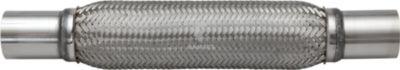 Flexrohr mit Anschlussstutzen 51 / 54 x 430 mm Edelstahl A2 1 Stück