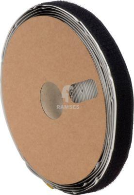 Klettband selbstklebend mit Haken 20 mm x 10 m schwarz 1 Stück