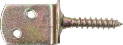 Flechtzaunbeschlag 28 x 29 x 38 mm Stahl gelb verzinkt 10 Stück | Garten > Zäune und Sichtschutz | Holz | Ramses