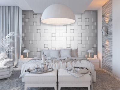 Fototapete 3D Wand Weiß