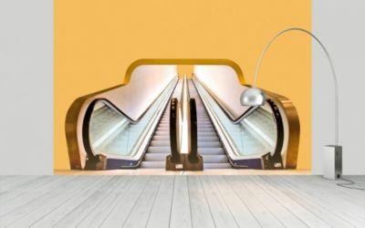 Fototapete Modern Urbane Rolltreppe als Kunst
