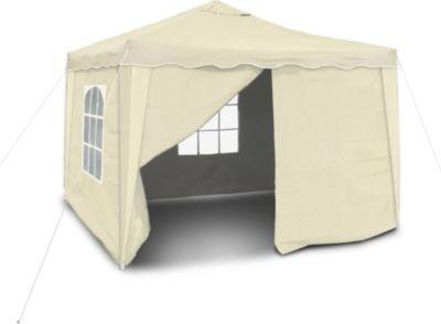 Praktischer Faltpavillon mit Seitenwänden, 3x3m, beige