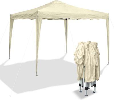 JOM Gartenpavillon Bahama I, Falt-Pavillon 3 x 3 m, beige, Material Oxford 200D, Metallgestänge, inkl. Tasche | Garten > Pavillons | JOM