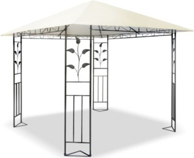 stabiler gartenpavillon falt pavillon 3 x 3 m weiss. Black Bedroom Furniture Sets. Home Design Ideas