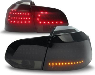 LED Rückleuchten geeignet für VW Golf 6, inschwarz mit LED Blinkern und Bremslicht VW Golf 6 08-12