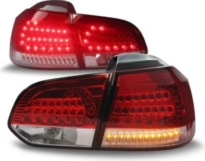 LED Rückleuchten geeignet für VW Golf 6, in rot und chrom inkl LED Blinker und Rücklichter VW Golf 6 08-12
