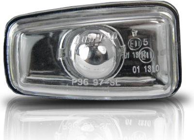 Seitenblinker geeignet für Peugeot 106, 306, 406, Citroen Berlingo, Saxo und Xantia, in chrom Peugeot 106 96-, 306, 406, Citroen Berlingo 96-, Saxo, Xantia 93-