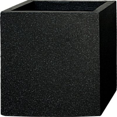 Pflanzwerk Pflanzkübel CUBE - (Granit Anthra) - 23cm x 23cm x 23cm