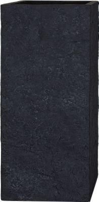 Pflanzwerk Pflanzkübel TOWER - (Lava Anthrazit) - 50cm x 23cm x 23cm | Dekoration > Dekopflanzen > Pflanzenkübel | Fiberglas | Pflanzwerk