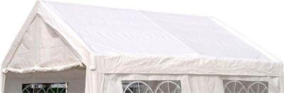 DEGAMO Ersatzdach / Dachplane PALMA für Zelt 4x4 Meter, PE weiss | Baumarkt > Camping und Zubehör | DEGAMO