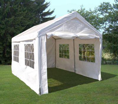 DEGAMO Profi - Zelt PALMA 3x4 Meter, PVC weiss   Baumarkt > Camping und Zubehör > Zelte   DEGAMO