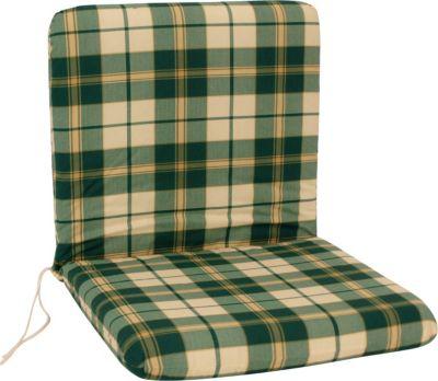Auflage BOSTON für Sessel, grün/beige kariert