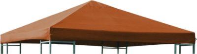 Ersatzdach für Metall- und Alupavillon 3x3 Meter terracottafarben, wasserdicht PVC-beschichtet