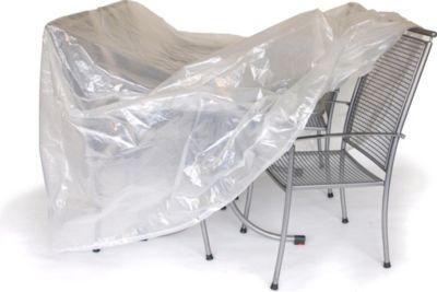 Abdeckhaube Garnitur 300x200x90cm oval, PE transparent