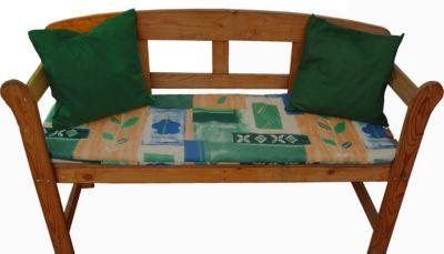 gartenmoebel einkauf Auflage SABINE für Bank 2-sitzer, blau gemustert, mit Kissen