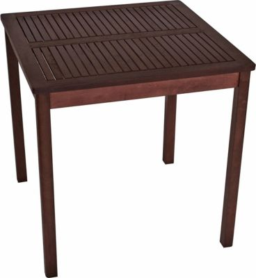 Tisch ARUBA 70x70cm, Eukalyptus geölt