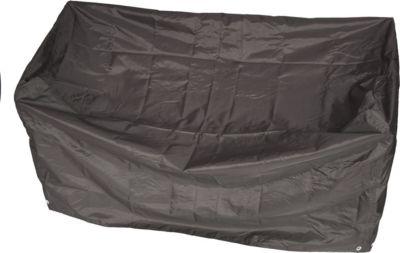 gartenmoebel einkauf Abdeckhaube Bank 2-sitzer 134cm, Polyester PE-beschichtet grau