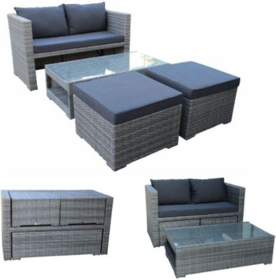 polyrattan lounge preisvergleich die besten angebote online kaufen. Black Bedroom Furniture Sets. Home Design Ideas