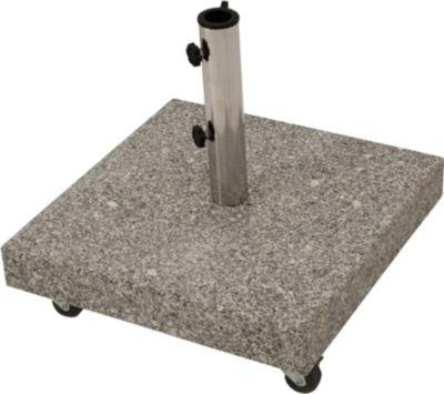 Schirmständer 50kg mit Rollen, Granit hellgrau