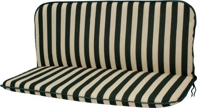 gartenmoebel einkauf Auflage NEVADA für Bank 2-sitzer, grün/beige gestreift