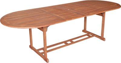 gartenmoebel einkauf Ausziehtisch LAGO 180/260x100cm, Eukalyptus geölt