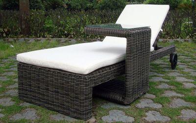 Baidani Rundrattan Garten Lounge Liege Riviera