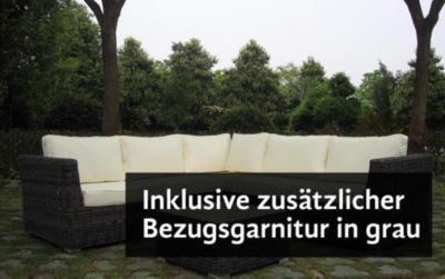 Baidani Rundrattan Garten Lounge Favorit inkl. ...