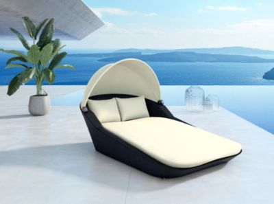 Baidani Rattan Garten Lounge Doppel Liege Sunray