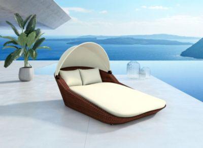 Rattan Garten Lounge Doppel Liege Sunray