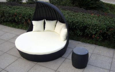 Baidani Rattan Garten Lounge Doppel Liege Fantasy