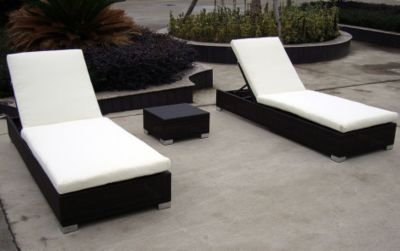 Rattan Garten Lounge Doppel Liege Twin Star