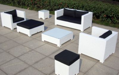 Rattan Garten Lounge Garnitur Sunrise