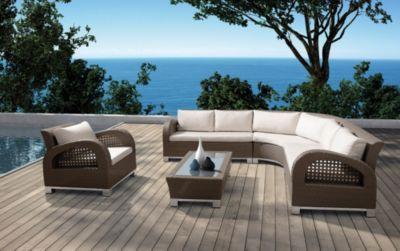 Baidani  Rattan Garten Eck-Lounge Set Mikonos