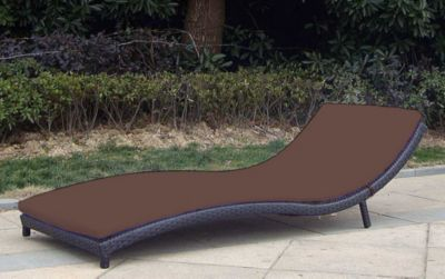 Baidani Rattan Garten Liege Wave Select | Garten > Gartenmöbel > Gartenliegen | Schwarz | Rattan | Baidani