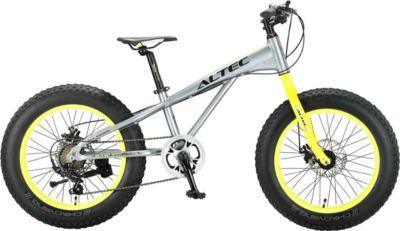 20 Zoll Jungen Fat Mountainbike 6 Gang Hoopfietsen Allround grau-gelb