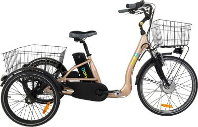 24 Zoll Elektro Dreirad 3 Gang Cyclo2... bronze