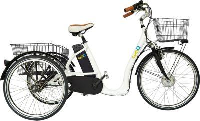 26 Zoll Elektro Dreirad 3 Gang Cyclo2... weiß