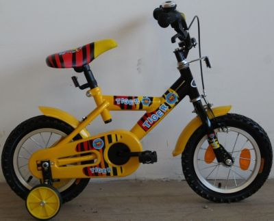 12 Zoll Kinder Fahrrad schwarz-gelb