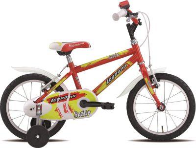 14 Zoll Legnano Snake Jungen Fahrrad rot-gelb
