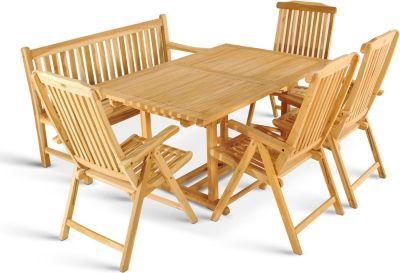 ® Gartenmöbel Teak Set 6tlg. Gartentisch 180 - 240 cm KA