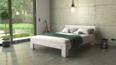 ® Massivholzbett Doppelbett Buche weiß lasiert 140 x 200 cm SARA