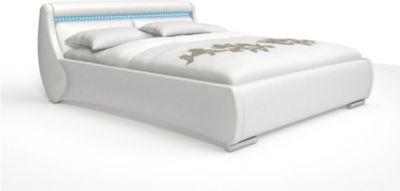 SAM® Doppelbett weiß Polsterbett 180 x 200 cm günstig Sunset   Schlafzimmer > Betten > Doppelbetten   Weiß   SAM