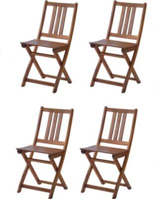 SAM® Balkonstühle Gartenstühle 4er - Set aus Akazienholz FSC® FARSO | Garten > Balkon > Balkonstühle | Akazie | SAM