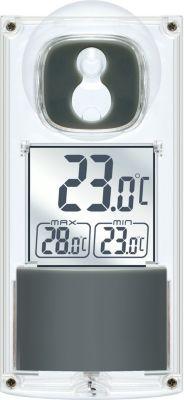 Bresser BRESSER Solar Fenster Thermometer mit Saugnapf