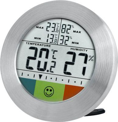Temeo Hygro Circuitu digitales Thermometer/Hygrometer Farbe: silber