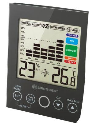 BRESSER MA digitales Hygrometer mit Schimmelala...