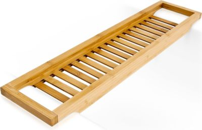 relaxdays Bambus Badewannenablage 64 x 15 cm