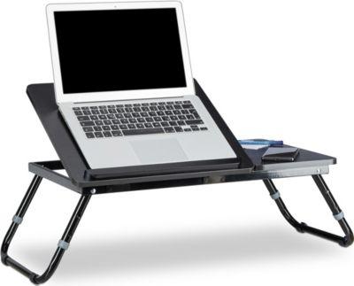 Laptoptisch fürs Bett schwarz